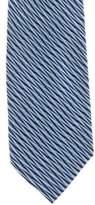 Gianni Versace Geometric Jacquard Silk Tie