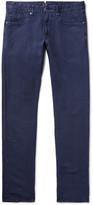 Incotex Chinolino Slim-Fit Linen-Blend Twill Trousers