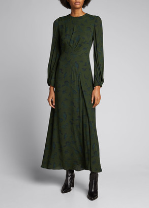 Lela Rose Asymmetrical Seamed Georgette Dress