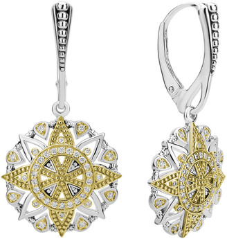Lagos Wanderlust 18K & Silver 0.35 Ct. Tw. Diamond Earrings