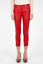 Topa Cropped Leather Trousers