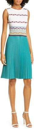 Ted Baker Triangle Print Pleated Dress