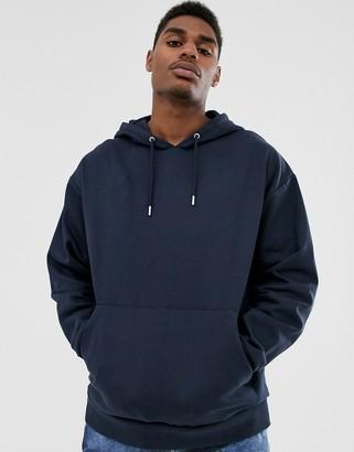 ASOS DESIGN organic oversized hoodie in navy