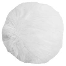 "Thro 16"" Kari Keller Round Faux Mongolian Pillow"