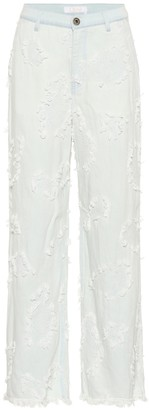 Chloé Embroidered jeans