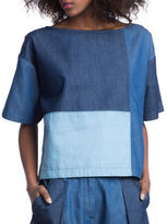Plenty by Tracy Reese Multi-Colorblock Denim Top