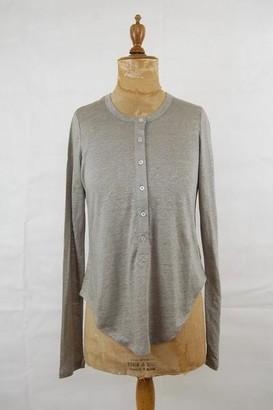 Movement Boutique - Vic And Bert Noah Long Sleeve Linen T Shirt Grey - 2 / Grey / Long sleeve