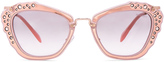 Miu Miu Embellished Cat Eye Sunglasses