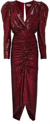 Ronny Kobo Astrid Ruched Sequin Dress