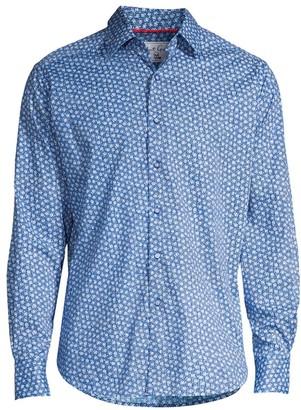 Robert Graham Boulevard Classic-Fit Mini Rose Print Sport Shirt