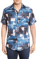 Robert Graham Rocky Island Regular Fit Short Sleeve Sport Shirt