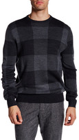 Toscano Buffalo Check Crew Neck Sweater