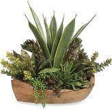 Uttermost Salar 22-Inch Succulents in Teak Bowl