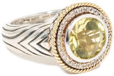 Andrea Candela Rodeo 18K & Silver 4.42 Ct. Tw. Lemon Quartz & Diamond Ring