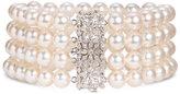 Mastoloni 4-Strand Pearl & Diamond Clasp Bracelet