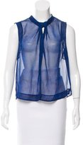 Rebecca Taylor Sleeveless Sheer Top