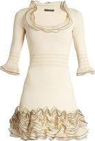 Alexander McQueen Frilled stretch-knit dress