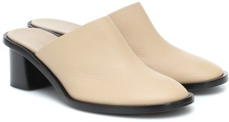 The Row Teatime Clog leather mules