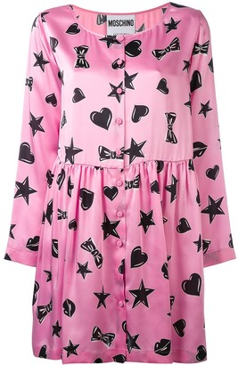Moschino Heart Print Dress