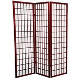 Oriental Furniture Small Size, 60-Inch Classic Japanese Style Folding Floor Privacy Screen Room Divider