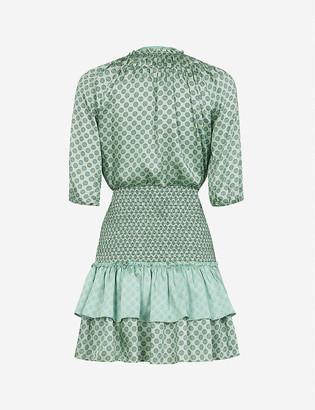 Sandro Ivan graphic-print woven mini dress