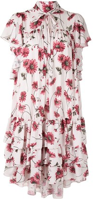 Adam Lippes Daisy-Print Tiered Dress