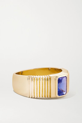 Retrouvaí Pleated Solitaire 14-karat Gold Tanzanite Ring - 7