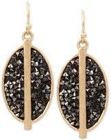 Kenneth Cole New York Gold-Tone Sprinkle Stone Drop Earrings