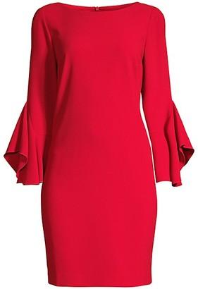 Elie Tahari Dori Drape-Sleeve Sheath Dress