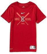 Nike Big Boys 8-20 Crossed Bats Short-Sleeve Graphic Baseball Tee