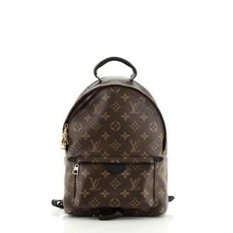 Louis Vuitton Palm Springs Black Cloth Backpacks