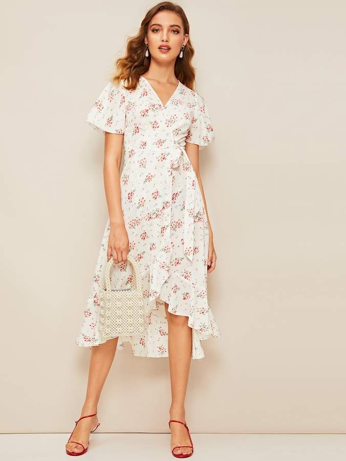 bec1fcde28 Shein White Ruffled Dresses - ShopStyle