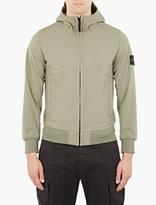 Stone Island Green Soft Shell-r Hooded Jacket