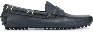 Car Shoe Pebbled Effect Loafers