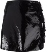 Kenzo faux patent leather mini skirt - women - Polyester/Polyurethane - 42