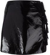 Kenzo faux patent leather mini skirt