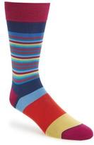 Bugatchi Men's 'Thin Stripe/bold Stripe' Socks