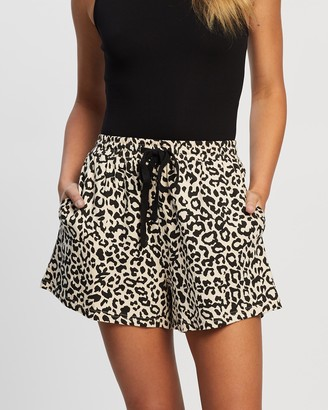 Atmos & Here Atmos&Here - Women's Neutrals High-Waisted - Vicki Relaxed Shorts - Size 6 at The Iconic