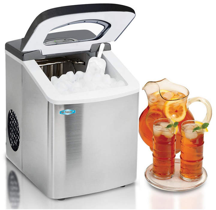 Elite By Maxi-matic Mr  Freeze Stainless Steel Portable Ice Maker