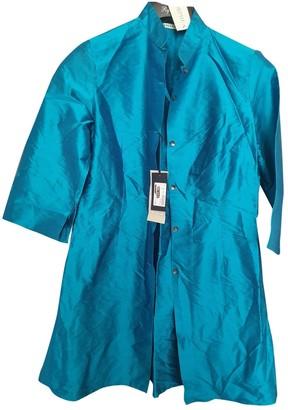 Arfango Turquoise Silk Jumpsuit for Women
