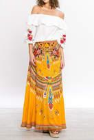 Flying Tomato Tribal Mustard Skirt