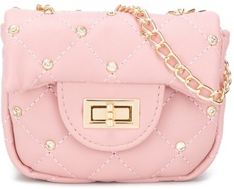 MonnaLisa Coco rhinestone-embellished shoulder bag