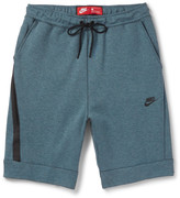Nike - Slim-fit Tapered Cotton-blend Tech Fleece Shorts