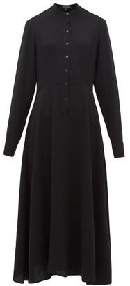 story. White Maestro Buttoned Midi Dress - Womens - Black