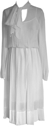 Onelady Silk Midi Dress Offwhite - Chris