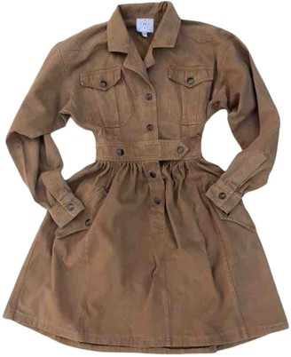 Fendi Brown Cotton Dresses