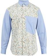 Comme Des GarÇons Shirt Contrasting-panel Floral Fil Coupé Cotton Shirt