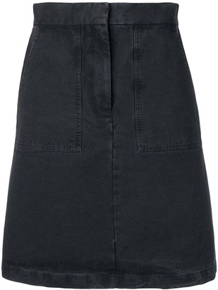 Masscob Moss Mini Denim Skirt