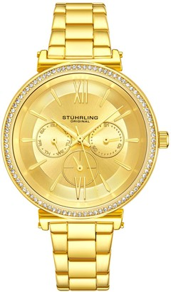 Stuhrling Original Women's Aria Goldtone Multi-FunctionWatch