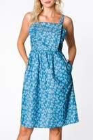 Everly Floral Bib Dress